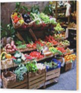 Florence Produce Stand Wood Print
