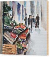 Florence Street Market Wood Print