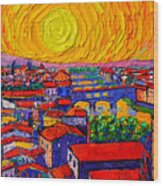 Florence Sunset 12 Wood Print