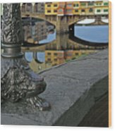Florence The Old Bridge Wood Print