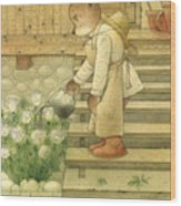 Florentius The Gardener Wood Print