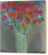 Flores 1 Wood Print
