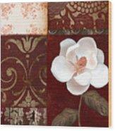 Flores Blancas Square I Wood Print