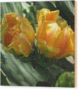 Flores De Cactus Wood Print