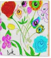 Flores De Primavera  Wood Print
