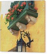 Flores Rojas En Cartagena Wood Print