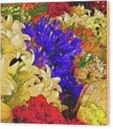 Flores Y Lilas Wood Print