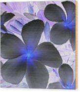 Florescent Flowers Wood Print