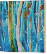 Floresta Azul Wood Print