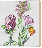 Florets Wood Print