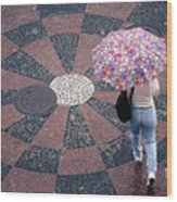 Florida - Umbrellas Series 1 Wood Print