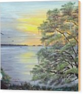 Florida Bay Sunrise Wood Print