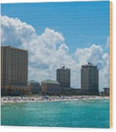 Florida Beach Panama City Wood Print
