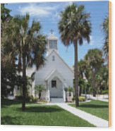 Florida Community Chapel Wood Print