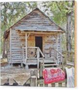 Florida Cracker Church And School House Wood Print