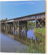 Florida East Coast Railroad Bridge Wood Print