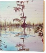 Florida Everglades Study # 1 Wood Print