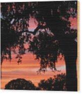 Florida Firesky Wood Print