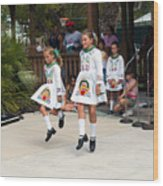 Florida Irish Dancers Wood Print