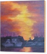 Florida Keyes Sunset Wood Print