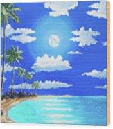 Florida Keys Moon Rise Wood Print