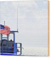 Florida Keys Patriot Wood Print