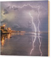 Florida Lightning Wood Print