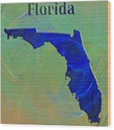 Florida Map Wood Print