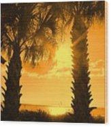 Florida Orange Wood Print