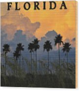 Florida Poster Wood Print