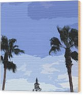 Florida Queen Palms   Wood Print