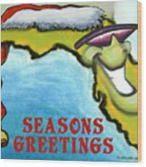 Florida Seasons Greetings Wood Print