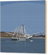 Florida Shrimper Wood Print