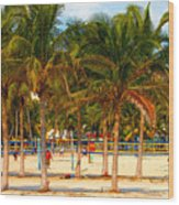 Florida Style Volleyball Wood Print