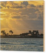Florida Sunset-3 Wood Print