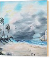 Florida Tempest Wood Print