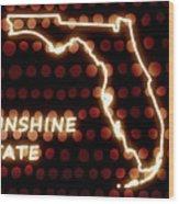 Florida - The Sunshine State Wood Print