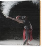 Flour Dancing Series Wood Print by Cindy Singleton
