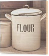 Flour Tin Wood Print