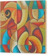 Floutine With Rhythm Wood Print