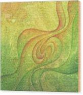 Flow #9 Wood Print