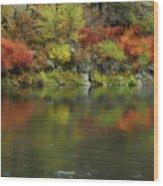 Flow Of Autumn Wood Print