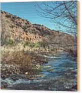Flow Of The Verde River Wood Print