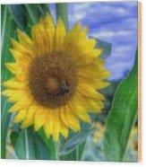 Flower # 37 Wood Print