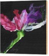 Flower In The Dark 3 Wood Print