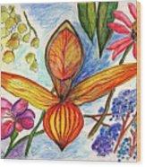 Flower 73 Wood Print