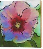 Flower 8-15-09 Wood Print