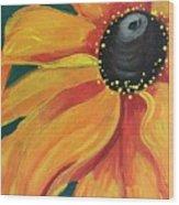 Flower A-blaze Wood Print