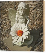Flower Angel Wood Print