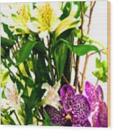 Flower Arrangement 1 Wood Print